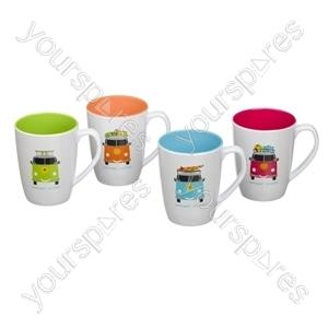 Camper Smiles Mug Set - Pack of 4