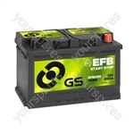 EFB Start Stop Battery 12V - 70Ah - 650A