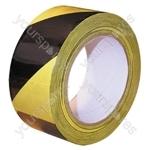 Hazard Tape - Yellow/Black - 50mm x 33m - Pack Of 2