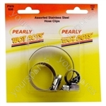 Assorted S/S Hose Clips - Pack of 3