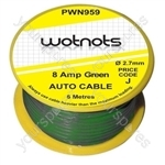 Wiring Cable Reel 8 Amp Green 6M