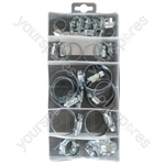 Assorted M/S Hose Clips - Box of 26