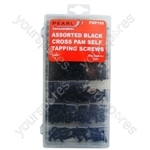 Black Self Tapping Screws - Assorted - Pack of 420 - Various