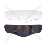 Rear View Clip On Mirror - Panoramic - 11.2 x 3.6in.