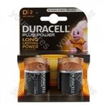Plus Power Alkaline D Batteries - Pack of 2