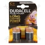 Plus Power Alkaline C Batteries - Pack of 2