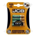 Rechargeable AAA Batteries - 900mAh - Pack of 4