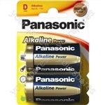 Alkaline Power D Batteries - Pack of 2