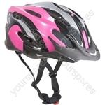 "Vapourâ""¢ Adult Black & Pink Cycle Helmet 56-58cm"