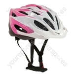 "Comp Teamâ""¢ Junior Pink & White Cycle Helmet 52-56cm"