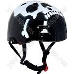 """The Skullâ""""¢ Black BMX Helmet 56-58cm"""