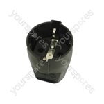 Universal Replacement Euro Plug for Electric Lawnmowers and Trimmers