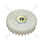 Qualcast Lawnmower Large White Cassette Gear