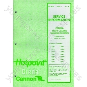 Indesit Service Manual 90 95