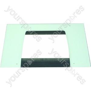 Indesit Main Door Glass (Black)