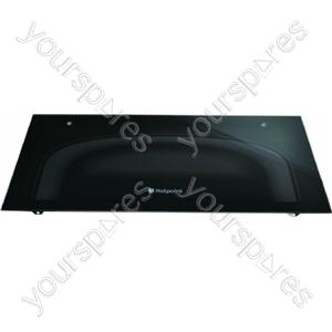 Indesit Top Oven Outer Door Glass (Black)