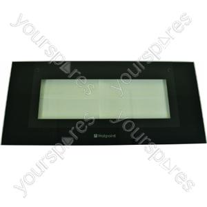 Indesit Top Oven Outer Door w/ Black Detail