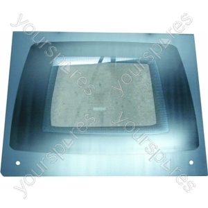 Indesit Main Oven Outer Door Glass w/ Silver surround