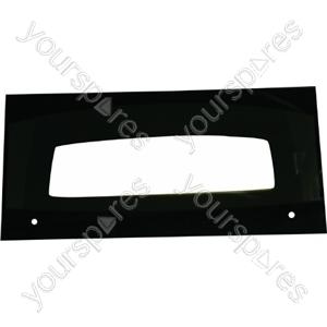 Indesit Top Oven Door Glass with Black Detail