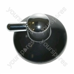 Ariston Hotplate Black and Silver Finish Control Knob