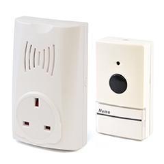 16 Melody Plug-in Wireless Door Chime + Socket - White