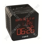 i-station Timecube Clock Radio Black