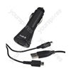 Dual Car Chargerwith USB Cable