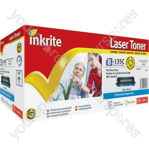 Inkrite Laser Toner Cartridge compatible with Brother TN130 TN135 Cyan (Hi-Cap)