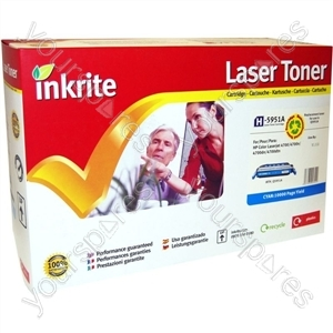 Inkrite Laser Toner Cartridge Compatible with HP Colour LaserJet 4700 Cyan