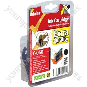 Inkrite NG Printer Ink for Canon i865 i990 S800 S900 S9000 iP4000 - BCI-6BK Black (Elephant)