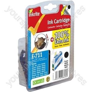 Inkrite NG Printer Ink for Epson D78 D92 D120 DX4000 DX4050 DX5000 DX7000 - T071140 Black (Leopard)