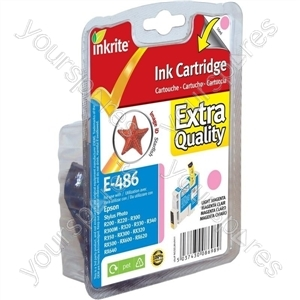 Inkrite NG Printer Ink for Epson R200 R300 R320 RX500 RX600 RX620 - T048640 Light Magenta (Starfish)