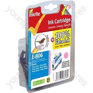 Inkrite NG Printer Ink for Epson R265 R360 RX560 - T080640 Light Magenta (Robin)