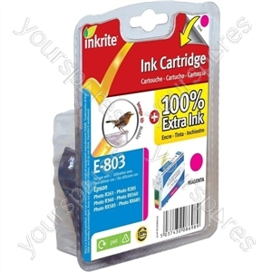 Inkrite NG Printer Ink for Epson R265 R360 RX560 - T080340 Magenta (Robin)