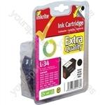 Inkrite NG Ink Cartridges (No.34) for Lexmark P4350 X7170 - 18C0034 Black