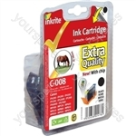 Inkrite NG Printer Ink (Chipped) for Canon iP4200 4300 5200R 6600D MP500 530 - CLI-8BK Black (Horse)
