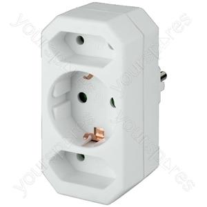 Mains Distributor - 3-way Socket Splitter