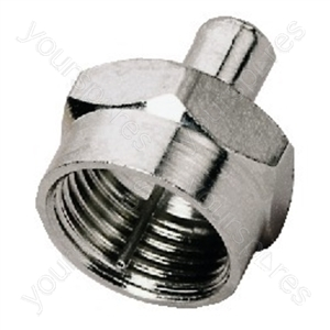 F Connector - F Terminating Resistor, 75ω