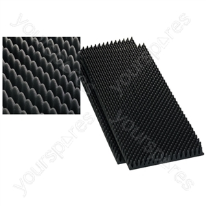 Damping Material - Speaker Wedge Moulded Foam Sheets