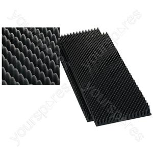 Damping Material - Speaker Wedge Moulded Foam Sheets