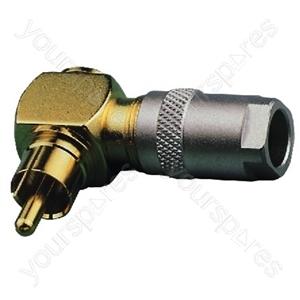 Angled Cinch Plug - Rca Plug