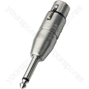 Adaptor - Neutrik Adapter Xlr/6.3mm Mono Plug