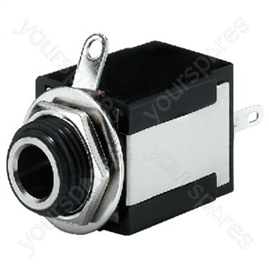 Jack Socket - 6.3 mm Mono And Stereo Panel Jacks
