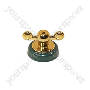 Creda Green & Gold Hob Control Knob Assembly