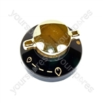 Stoves Black & Gold Gas Hob Control Knob