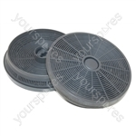 Glen Dimplex Cooker Hood Carbon Filter - Pack of 2