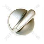 Belling Metallic Silver Finish Hob Control Knob