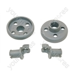 Indesit Lower Dishwasher Basket Wheel - Pack of 2
