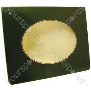 Indesit Drop Down Green Oven Door Glass