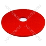 """Cleaning Pad 17"""" Red"""